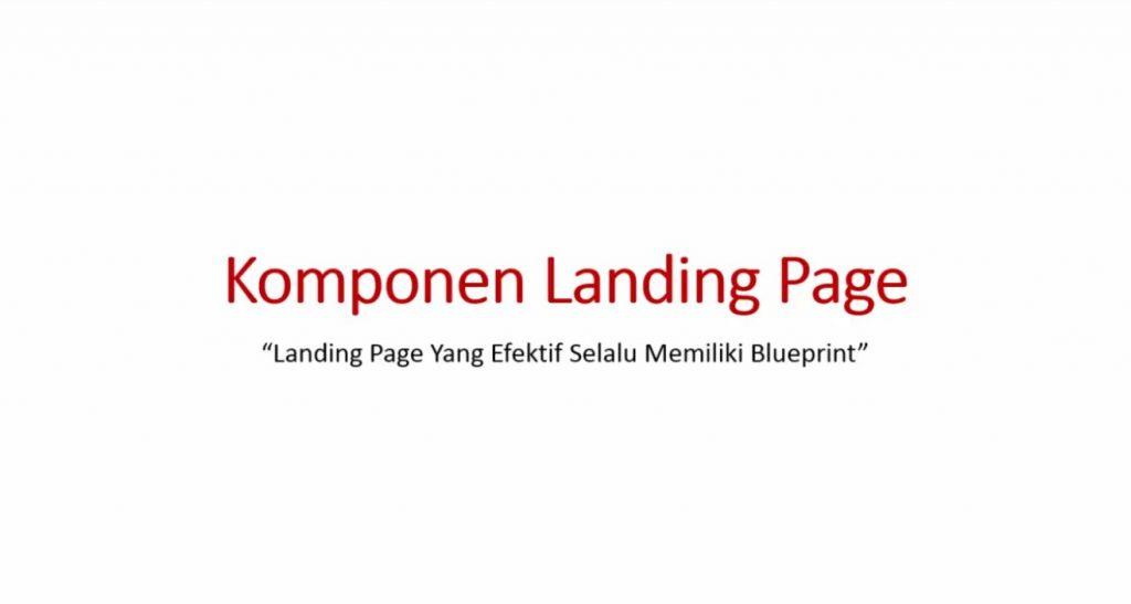 Video 2 Komponen Landing Page